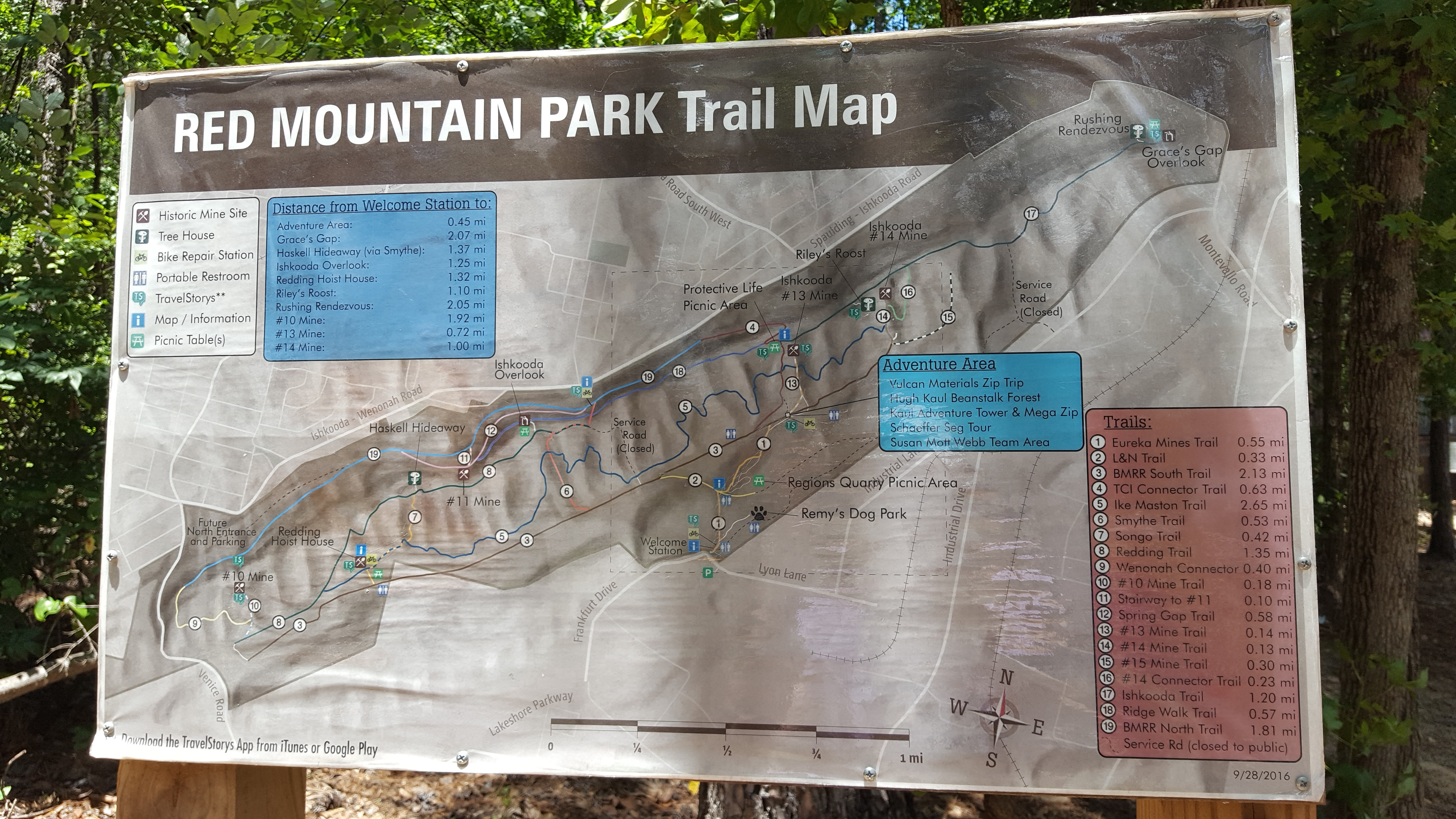 Weekend in Birmingham red mountain park trail map